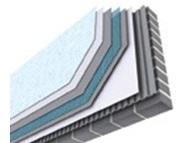 يتم  العزل من الخارج حيث تٌثبت العوازل الحرارية على الجدران الخارجية للمبنى .فيتم تغليفه ثم يتم تركيب التشطيبات الخارجية مثل (الزجاج ، أو حجر الرياض ،أو مواد (STB) من الخارج)